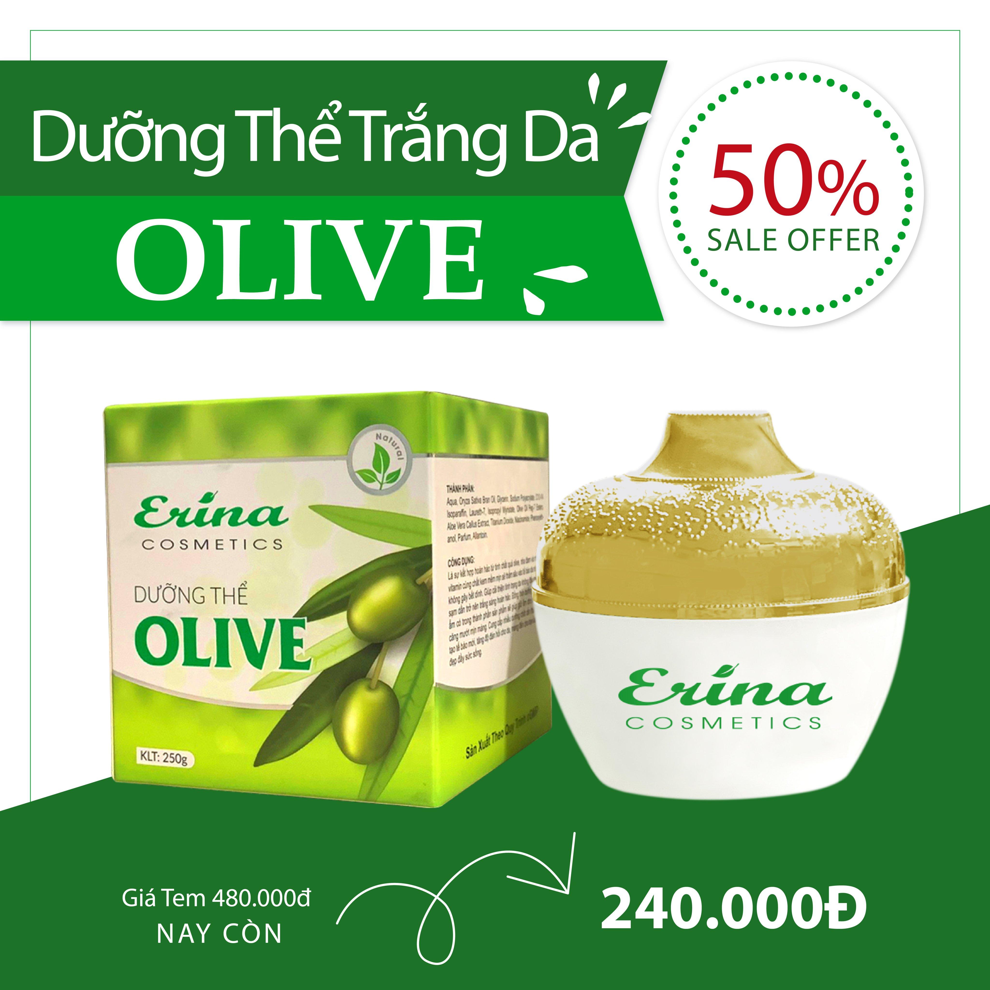 Dưỡng Thể Olive 250g